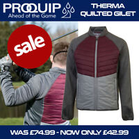 ProQuip Men's Thermal Excel Quilted Golf Jacket Burgundy/Grey - NEW! 2020