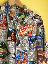 Reyn Spooner Vtg Mens Theme Rayon Hawaiian Shirt Size XL Valencia California