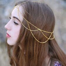 Fashion Women Head Chain Jewelry Metal Rhinestone Headband Hair Band Head Piece