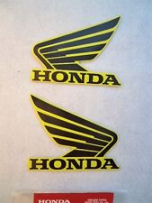 Honda GENUINE Fuel Tank Decal Wings Sticker x 2 Fluorescent Yellow & Black