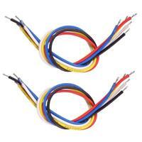 Set / 10pcs 19cm Câble de connexion intérieur avec blindage pour guitare