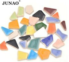 50 Piece Junao Mix Color Glass Mosaic Tile Regular Mosaic Stones Glass Pebbles