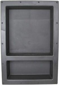 "Uni-Green SHC-R-1725D 17"" x 25"" ABS Double Shelf Bathroom Recessed Shower Niche"