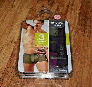 Sloggi Mens Start Midi Boxer Briefs 3 Pack Multi-Colour Size XL UK 38 EU 7 NEW