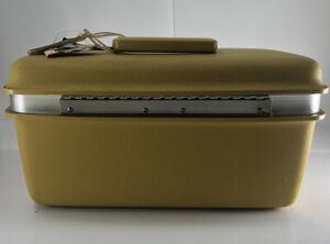 VINTAGE Samsonite Aspen JCPenney Gold Makeup Case/Train Storage/Travel Tote