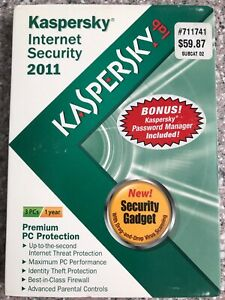 Kaspersky Internet Security 2011 PC (3 User/s) NEW Premium PC Protection