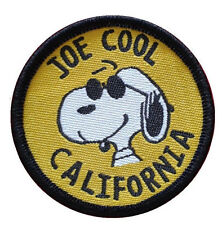 """Joe Cool California snoopy peanuts round patches 2"""" Embroidered Sew On Patch"""