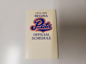 RS20 Regina Pats 1979/80 Minor Hockey Pocket Schedule - Labatt's