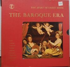 4 LP Box Set w/ Booklet The Baroque Era Story of Great Music   091816LLE