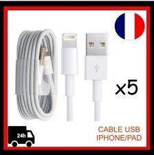 x5 Chargeur Câble USB pour IPhone 5,5S, 5C, 6/6plus,6S/6S Plus,7, 7Plus, IPad