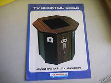 TC COCKTAIL TABLE SURVIVOR    US BILLARDS   arcade game flyer