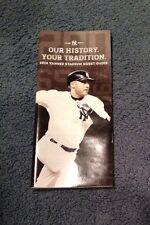 2014 New York Yankee Stadium Derek Jeter Guest Guide Booklet Program SGA