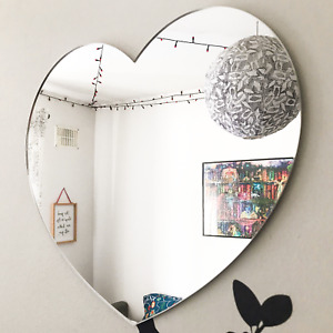 Heart Shape Acrylic Mirror Kids Baby Room Nursery Wall Door Sign Decoration Gift