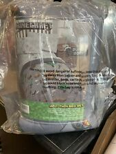 Minecraft Survive Bed in a Bag Bedding Set TWIN NEW