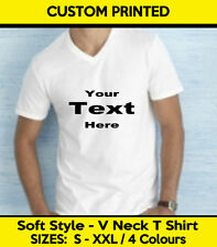 Jersey V Neck Loose Fit T-Shirts for Men