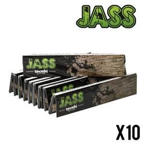 JASS SLIM Brown - Lot de 10 Carnets ! (Feuilles Non Blanchies)