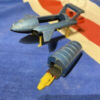 Dinky Toys Thunderbird 2 1975 Vintage Gerry Anderson Toy Yellow Feet, & TB 4