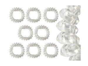 Spiralhaargummi, Haargummi, Spiral-Haargummi transparent 3 Stück Packung