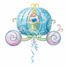 "Giant 33""x23"" CINDERELLA Carriage Foil Helium BALLOON Princess Birthday Party"