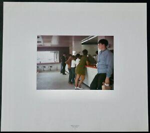 Dan Graham, FarbOffsetdruck 1989, signiert, New Highway Restaurant, Jersey City