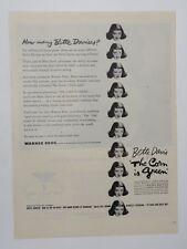 Original Print Ad 1945 Movie Ad THE CORN IS GREEN Bette Davis Vintage
