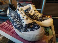 Rocket Dog Floral Canvas Shoes - Blue, Size 4