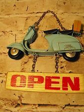 SHOP OPEN AND CLOSED SIGN SHABBY CHIC PUB BAR CAFE SHOP RETRO HANGING SIGN #