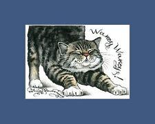 Tabby Cat Print Deep In The Fabric by I Garmashova