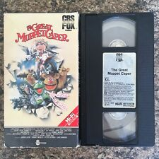 The Great Muppet Caper VHS CBS Fox HI-FI Video Jim Henson - Miss Piggy Kermit