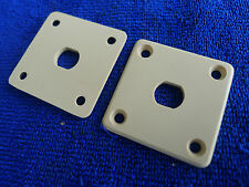 1 piece Genuine Epiphone LP Guitar Plastic Jack Plate Cream
