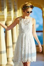 NWT Anthropologie Maeve Pineapple Lace Dress White Wedding Rehersal 16