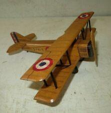 Superbe maquette en bois de SPAD III, Réalisation artisanale années 70-80, WW.1.