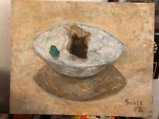"Original Painting "" Tea bag"" 16"" x 20"" acrylic on canvas"