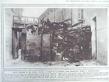 1916 TRENTINO-ISONZO BARRICADED STREET; EFFECT OF AIR-DROPPED BOMB WWI WW1