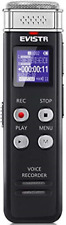 Evistr 8Gb Digital Voice Recorder Voice Activated Recorder with Playback - Small