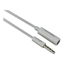 Câble Jack 3,5 Stéréo Mâle vers Jack 3,5 Stéréo Femelle 4 Pôles Long 1 Métre