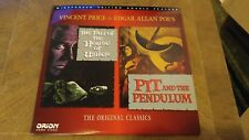 FALL OF THE HOUSE OF USHER PIT PENDULUM LASERDISC VG+ HORROR WS VINCENT PRICE