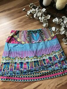 Lucky in Love Woman's Sz M Medium 8-10 Tennis Skort Golf Skirt colorful Print