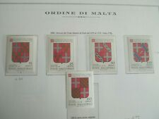 1986 ORDER OF MALTA MILITARY SHIELDS COMPLETE SET MNH LOT # 2