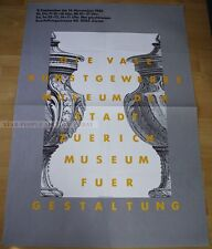 SWISS EXHIBITION XXL POSTER 1982 - THE VASE - GEORG STAHELIN züruch museum art