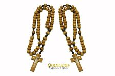 2 Holy Land Olive Wood Rosary Blessed in 3 churches Bethlehem &  Jerusalem