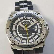 Bulova Stainless Steel 300m Precisionist Date Quartz Watch Jewelry AS IS PREC47