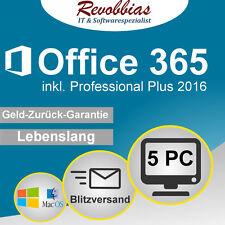 Microsoft Office 365 inkl. Professional Plus 2016 ✅ Vollversion ✅ Für 5 PC/MAC
