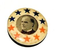 1896 WILLIAM MCKINLEY campaign pin pinback button badge political presidential