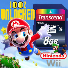 SUPER MARIO Nintendo Wii SD CARD SAVES Mario Kart New Paper Mario Galaxy 2