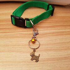 Lobster clasp with Tibetan Bronze Dog Charm & Bell For Dog Collar