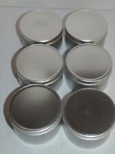 "Tool Shop Metal Storage Jars - Lot of 6 - New 2""x3"" (Rm-2)"