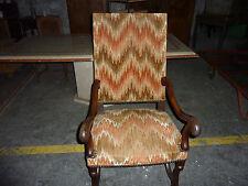 Ref 776 Fauteuil et chaise à dossier plat pied dit Os de Mouton Style Louis XIII