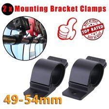 2X 49-54mm Adjustable Fine Craft Aluminum Black Bullbar LED Light Bar Bracket SJ