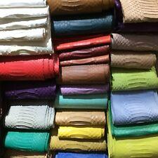 Elaphe Carinata Snake Skin Hide Leather Snakeskin Garment Quality Back 5 Colors